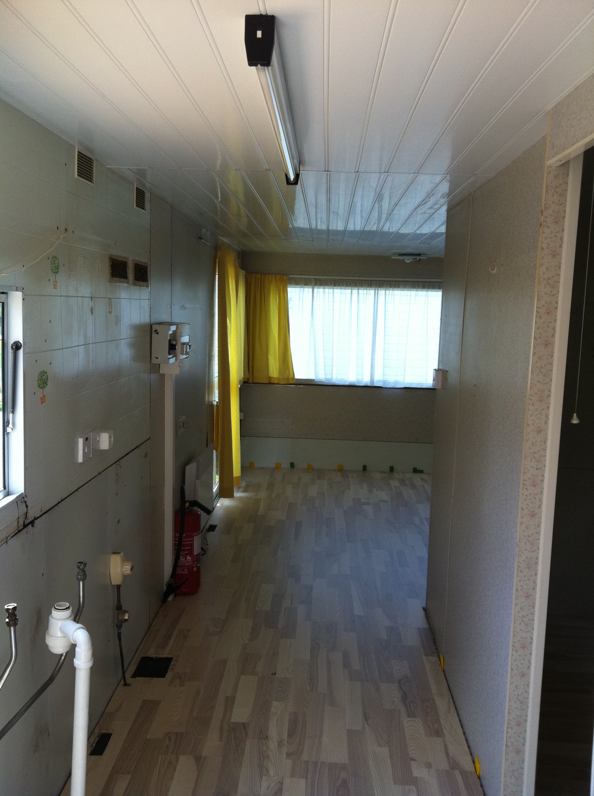 R novation sol et plafond mobil home for Renovation plafond